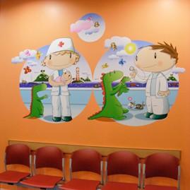 Illustration applied in hospitals, 2011