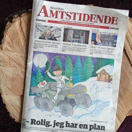 Cartoons for Akershus Amtstidende, 2015
